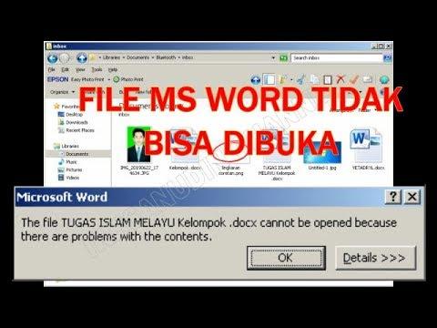 Cara Membuka Microsoft Word Yang Benar Adalah