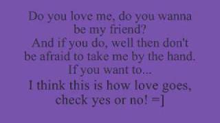 Check yes or no (George Strait) lyrics thumbnail