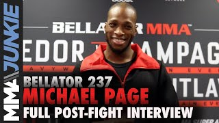 Bellator 237: Michael 'Venom' Page full post-fight interview