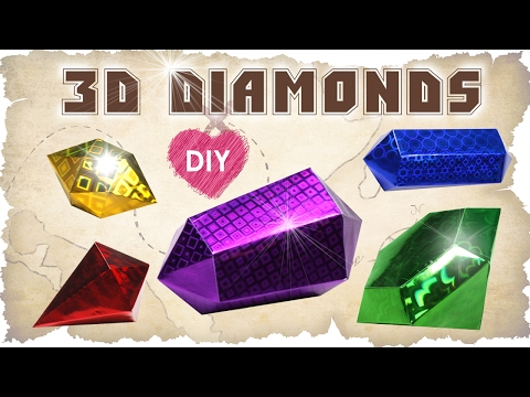 How to make a 3D Diamond gemstones of glistening paper