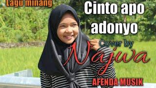 lagu minang cinto apo ado nyo, (live cover najwa)