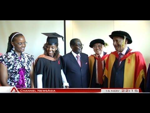 Daughter of Zimbabwe president graduates from MDIS - 16Nov2013