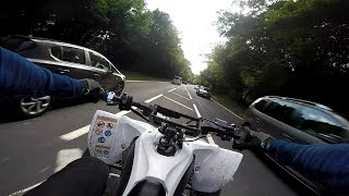 Fighting Rush Hour Traffic On A Yamaha Yfz450R Quad Bike London England