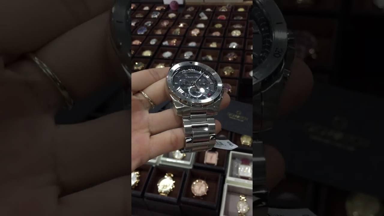68b79a180c46 MICHAEL KORS Brecken Chronograph Black Dial Stainless Steel Men s Watch  MK8438