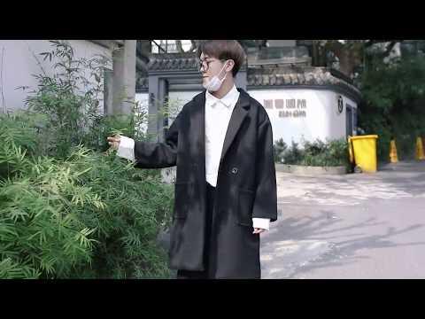 (Trend89) Áo Dạ Suông Lót Lông Nam Hàn Quốc