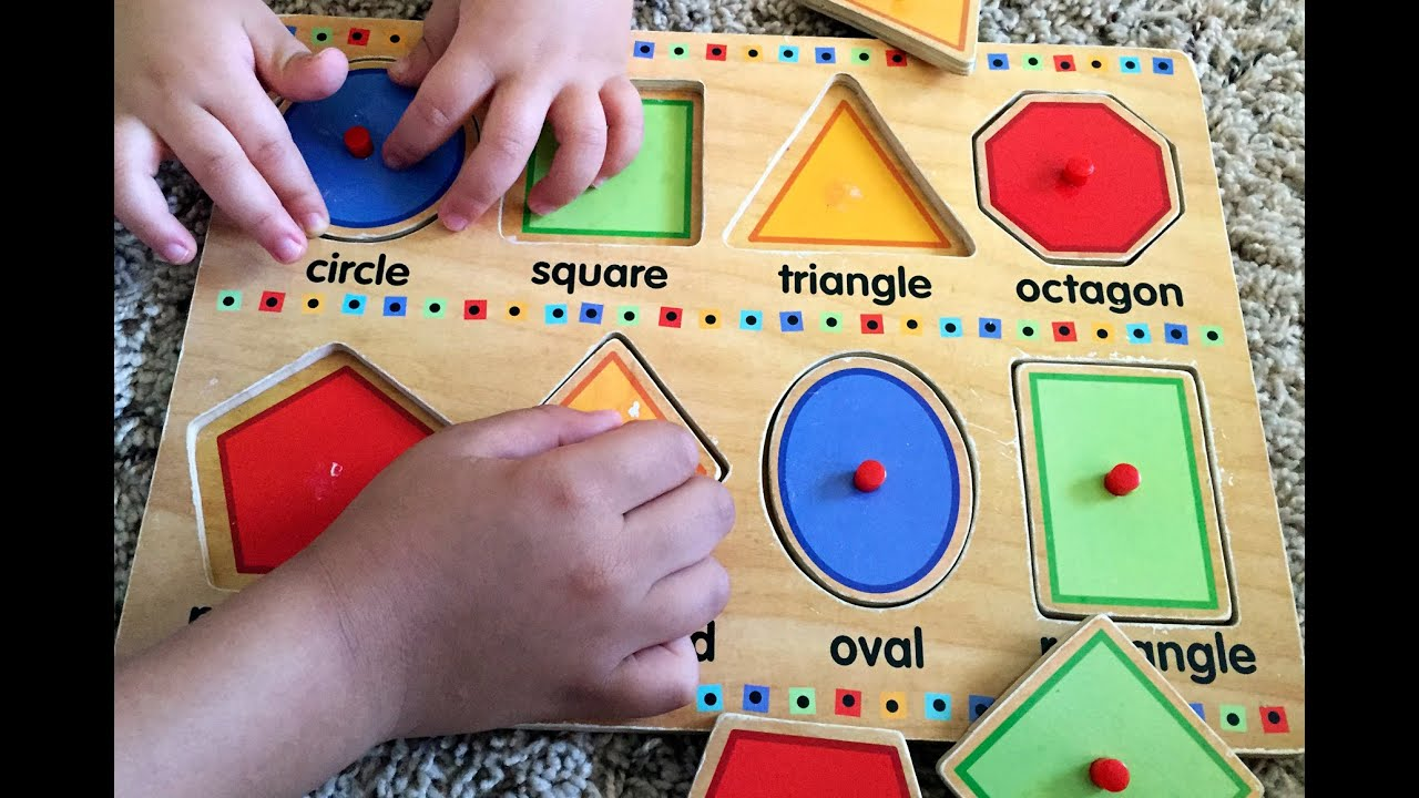 Learn Shapes W/ Fun Wooden Toy Puzzle