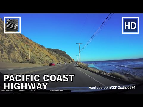 Driving from Santa Barbara to Los Angeles Highway 101 and PCH 1