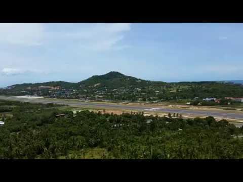 Bangkok Airways Propeller Plane Leaves Koh Samui Airport – Thailand