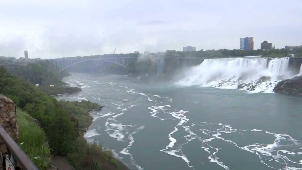 Niagara Falls on USA / Canada Border. Including Maid of ...