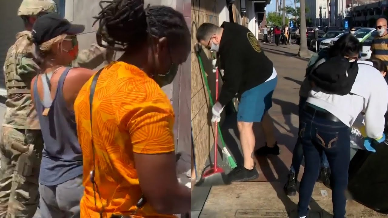 Black Lives Matter Protester Has Strong Words for Vandals