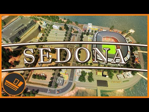 Sedona - Part 44 | THE STADIUM (Cities: Skylines)