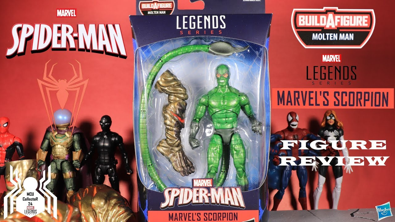 "Marvel Legends Spider-Man Far From Home SCORPION 6/"" Figure BAF Molten IN STOCK"
