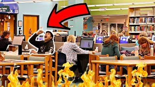 Eating Ghost Pepper In Library!!