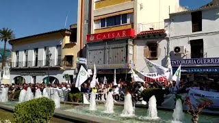 La manifestación de agricultores en Mérida llega a la Presidencia