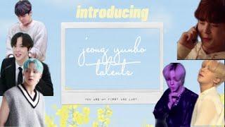 introducing : jeong yunho talents