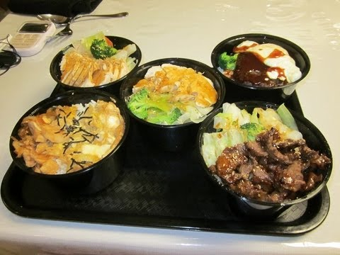 JAPANESE RICE BOWLS EATING CHALLENGE!!