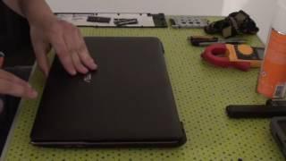 Réparation PC ASUS 1/3 changement connecteur alimentation