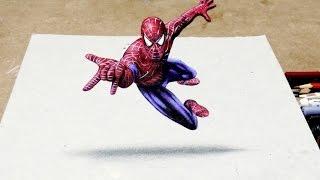 Desenhando o Homem Aranha 3D | How to Draw Spider Man 3D