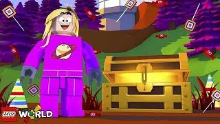 EXPLORING CANDYLAND! | Lego Worlds | Little Kelly thumbnail