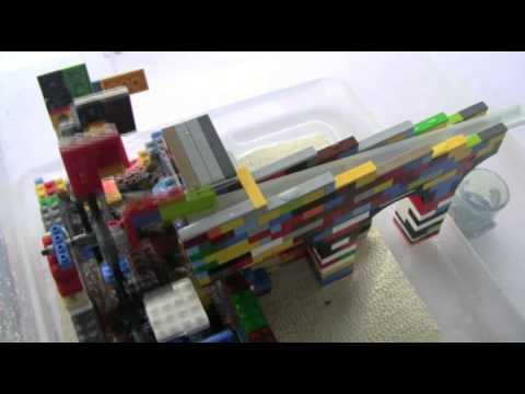 Roman Water Wheel Made with Lego Bricks