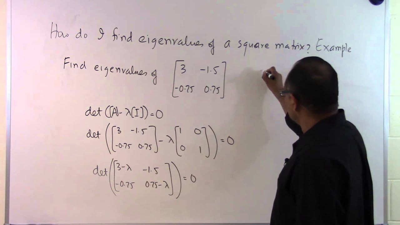 How do I find eigenvalues of a square matrix: Example