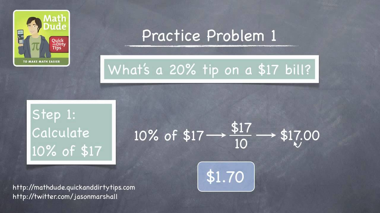 Math Dude 012 • Video Extra! • How to Use Percentages to Calculate ...