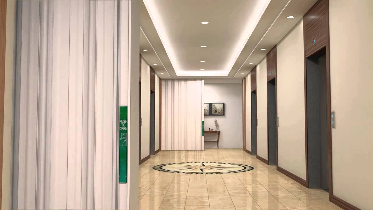 3d Animation Of Elevator Lobby High Rise Accordion Youtube