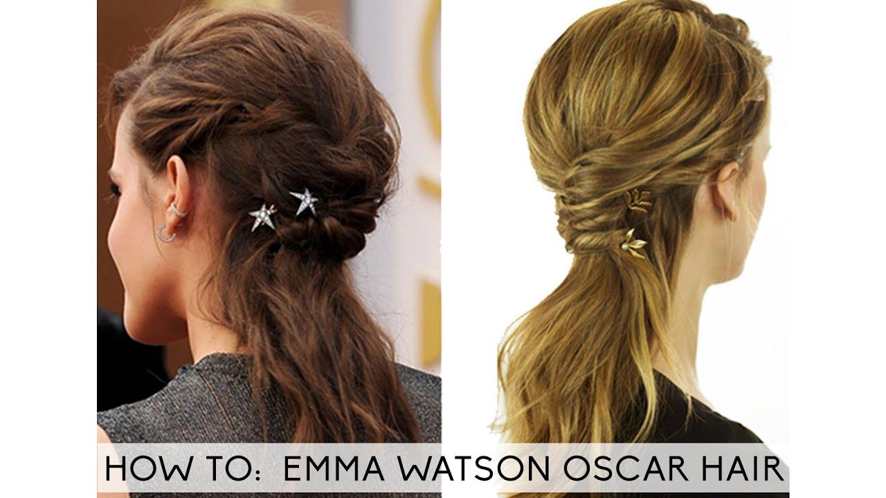 8 Hairstyle: Emma Watson Hair Oscar 2014 Tutorial