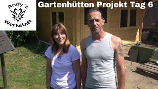 Gartenhütten Projekt Teil #7 - Anstrich und Dachrinne Tag 6