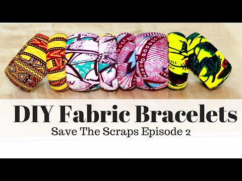 DIY Cheap and Easy Christmas Gift | Fabric Covered Bracelets
