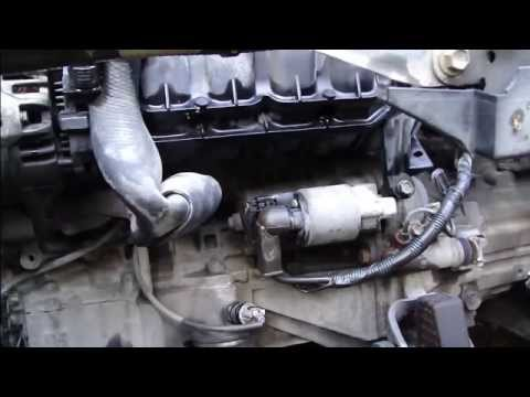 How to replace start motor Toyota Corolla VVT-i engine. Years 2000-2008