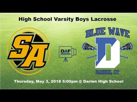 Darien Varsity Boys Lacrosse vs. St. Anthony's, NY