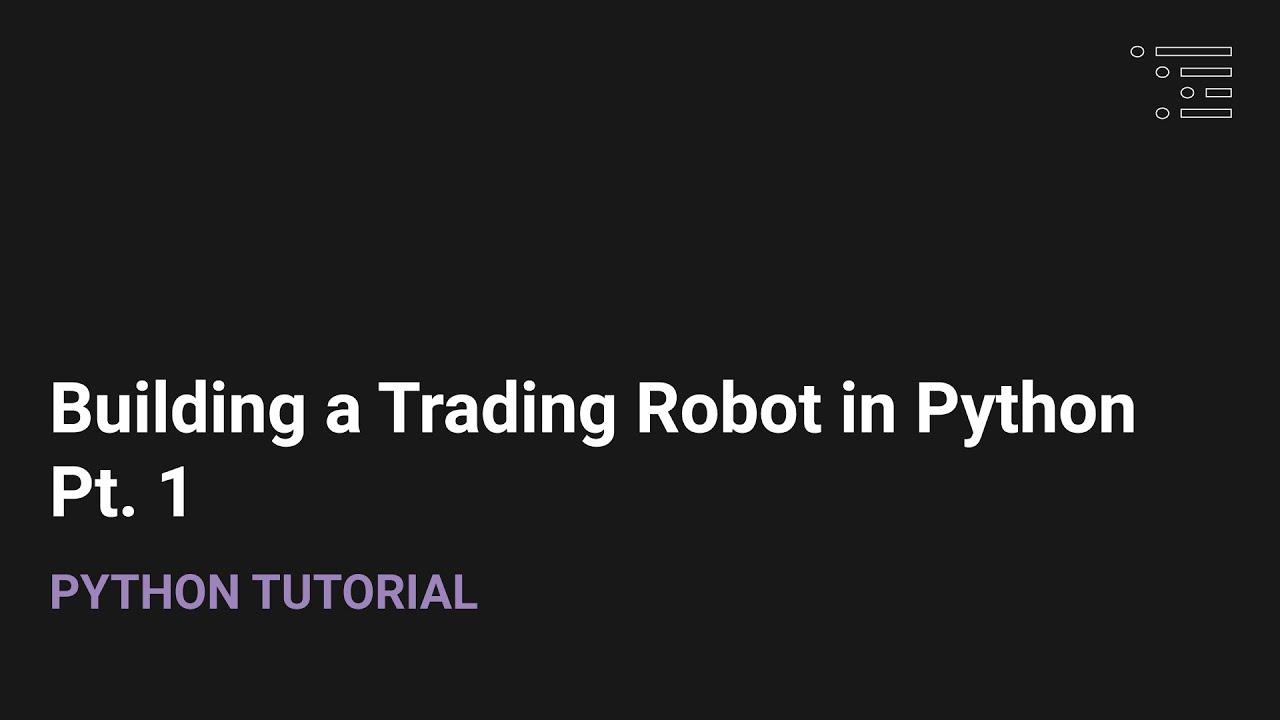 Forex kereskedési bot Python)