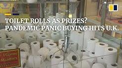 Toilet rolls as prizes amid coronavirus panic buying in England