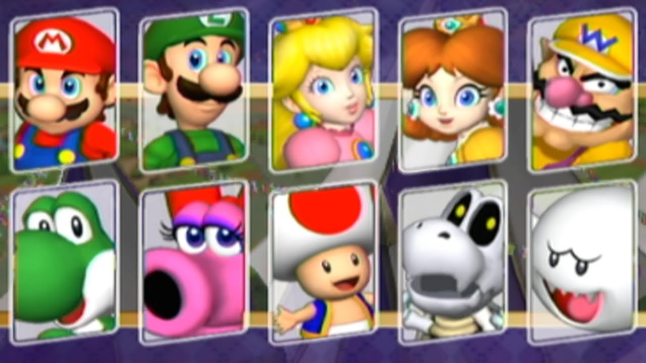 Mario Party 8 - All Characters
