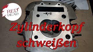 Yamaha XV 750 SE Zylinderkopf - Defekte Planfläche aufschweißen