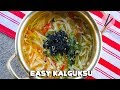 Easy Kalguksu Korean Fresh Noodles Soup
