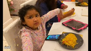 Ishfi having Chinese Noodles for the First Time