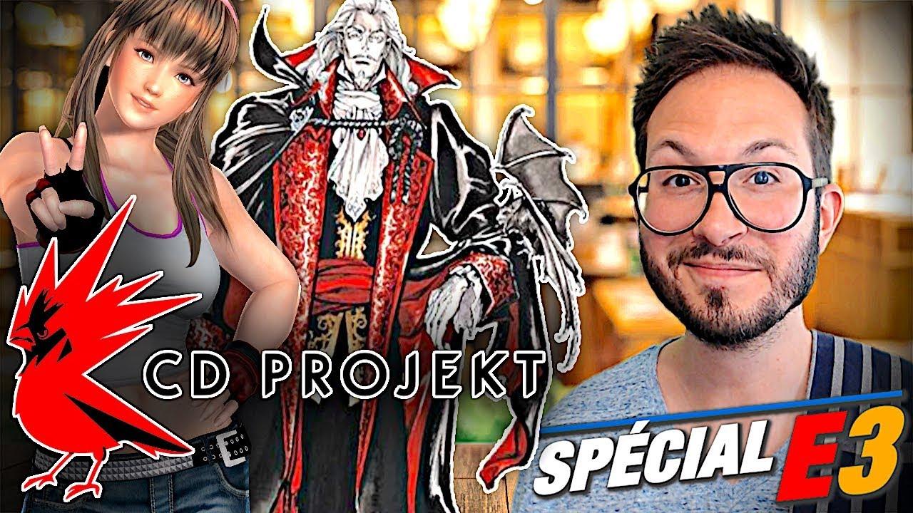 Twin Mirror, Dead or Alive 6, CD Projekt à l'E3, Castlevania renouvelé...