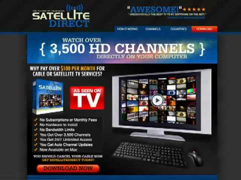 Satellite Direct Review - Watch TV On PC - Live TV Online - TV PC Software