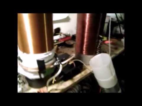Resonance phenomena with Tesla Coils (Overunity device) #1