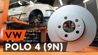Kako zamenjati Zavorni kolut VW POLO (9N_) - priročnik