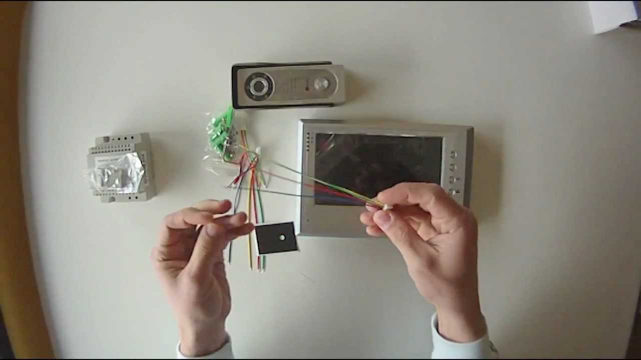 Genway doorphone 4 wire system YouTube