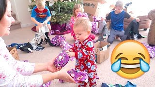 👶Baby HATES Christmas Present! HILARIOUS!😂
