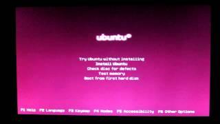 Ubuntu 12.10 i386 flashing underscore