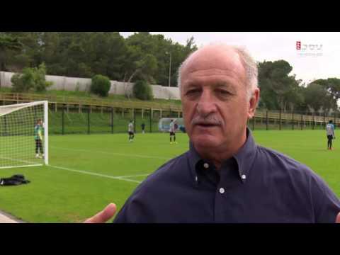 Luiz Felipe Scolari visita CF