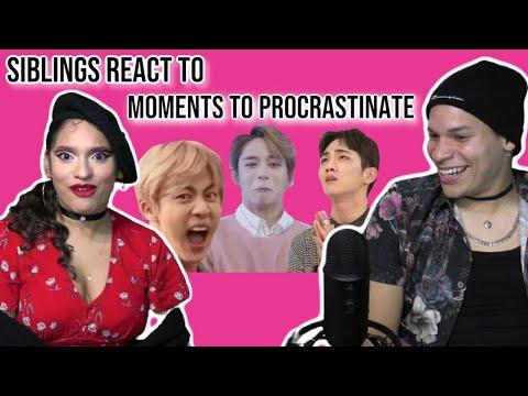 Siblings React To KPOP Boygroup Moments To Procrastinate | REACTION