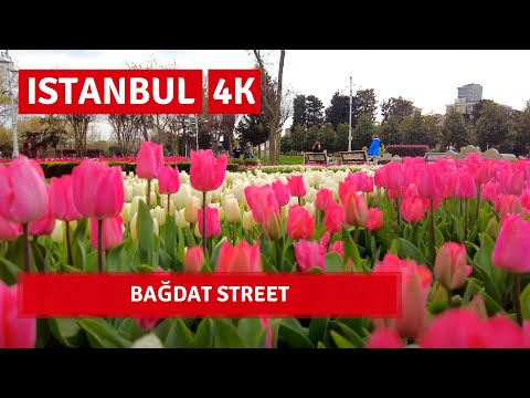 Istanbul City Walking Tour | Bağdat Street |16 April 2021|4k UHD 60fps