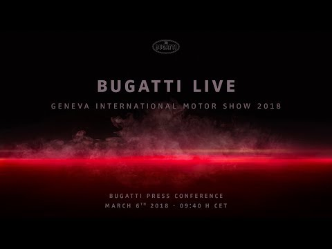 Bugatti Chiron Sport: World Premiere – Press Conference Geneva International Motor Show 2018