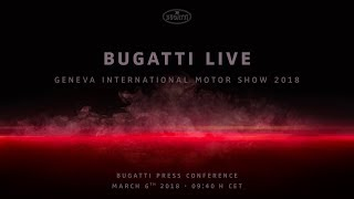 Bugatti Chiron Sport: World Premiere – Press Conference Geneva International Motor Show 2018